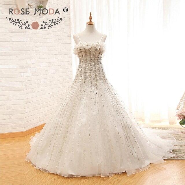 Rose Moda Luxury Crystal Wedding Dress Fully Beaded Wedding Ball ...