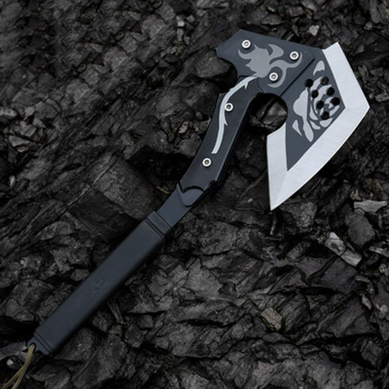 57HRC High Hardness Black Rose CF Tomahawk Ax Outdoor Camping Felling Axe Hiking Hunting Multifunction Survival Tools Hatchet best outdoor survival tomahawk axe tactical cold ice ax multifunction axes camping firefighting hand tool steel hatchet machete