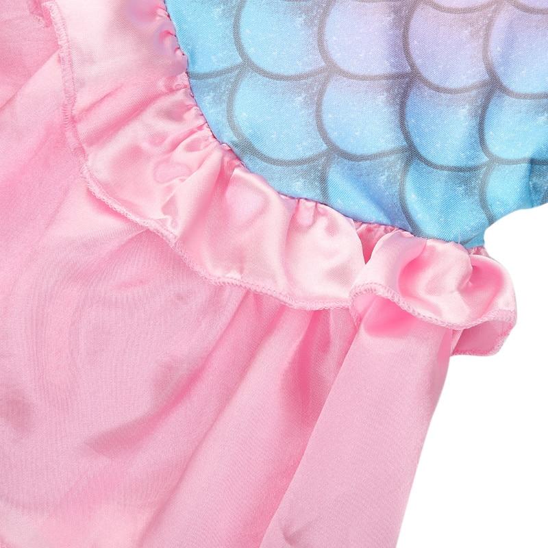 Pudcoco Baby Girls Clothes The Mermaid Ariel Kids Girls Dresses Princess Cosplay Halloween Costume 4