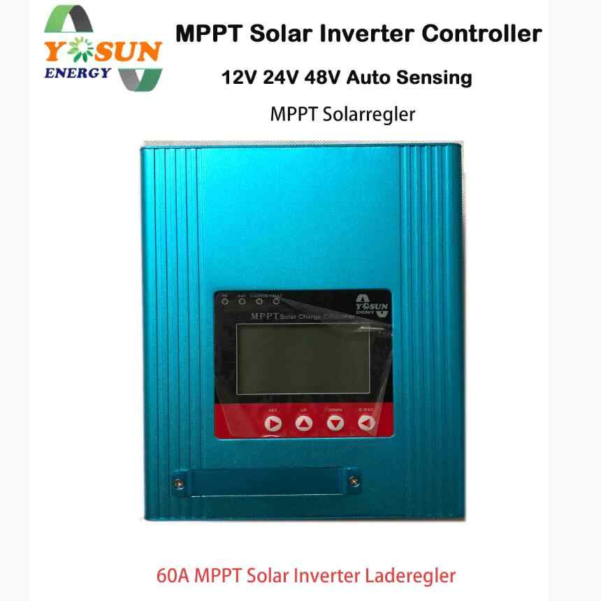 MPPT Solar Charge Controller 12/24/48V Auto 60A Solar Panel Battery Regulator Solar MPPT Controller LCD Display Home Appliances