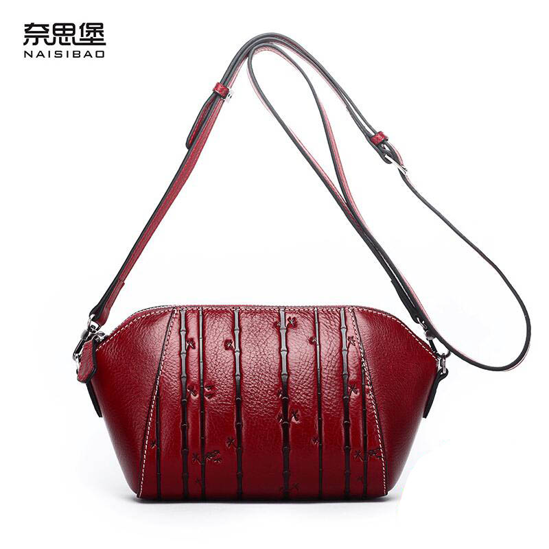 все цены на New women genuine leather bag luxury handbags women bags designer fashion women shoulder Messenger bag leather cowhide bag
