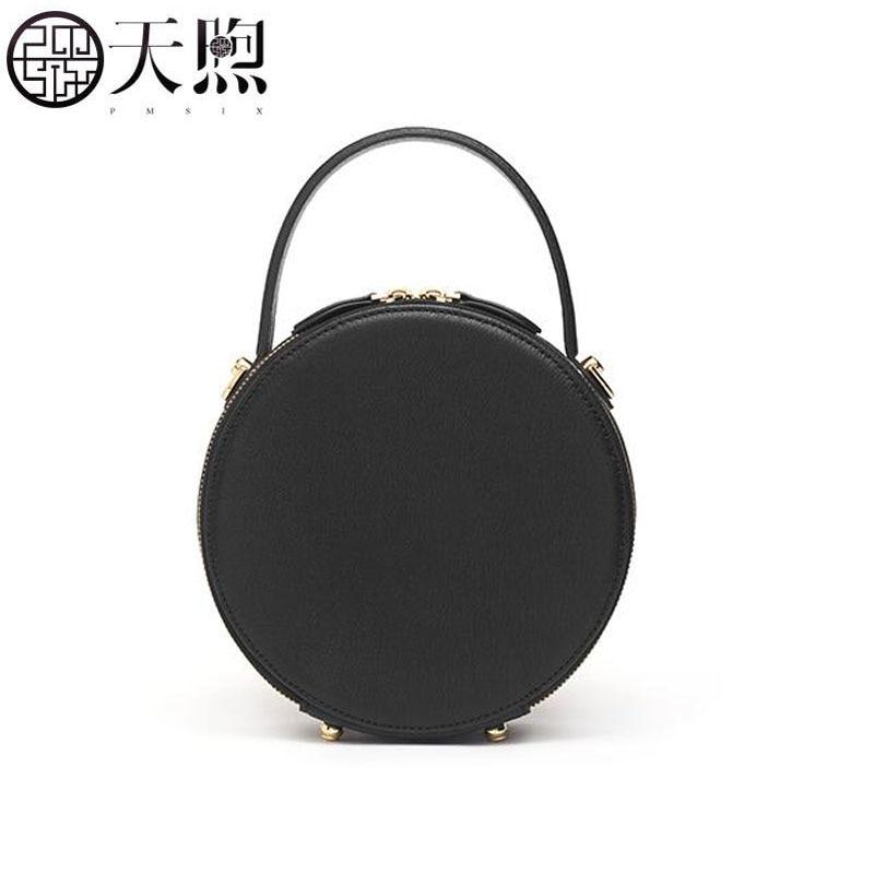 Pmsix nuova piccola borsa femminile 2019 nuovo sacchetto Del Messaggero di modo rotondo della borsa retrò piccola borsa rotonda borsa a tracolla - 4