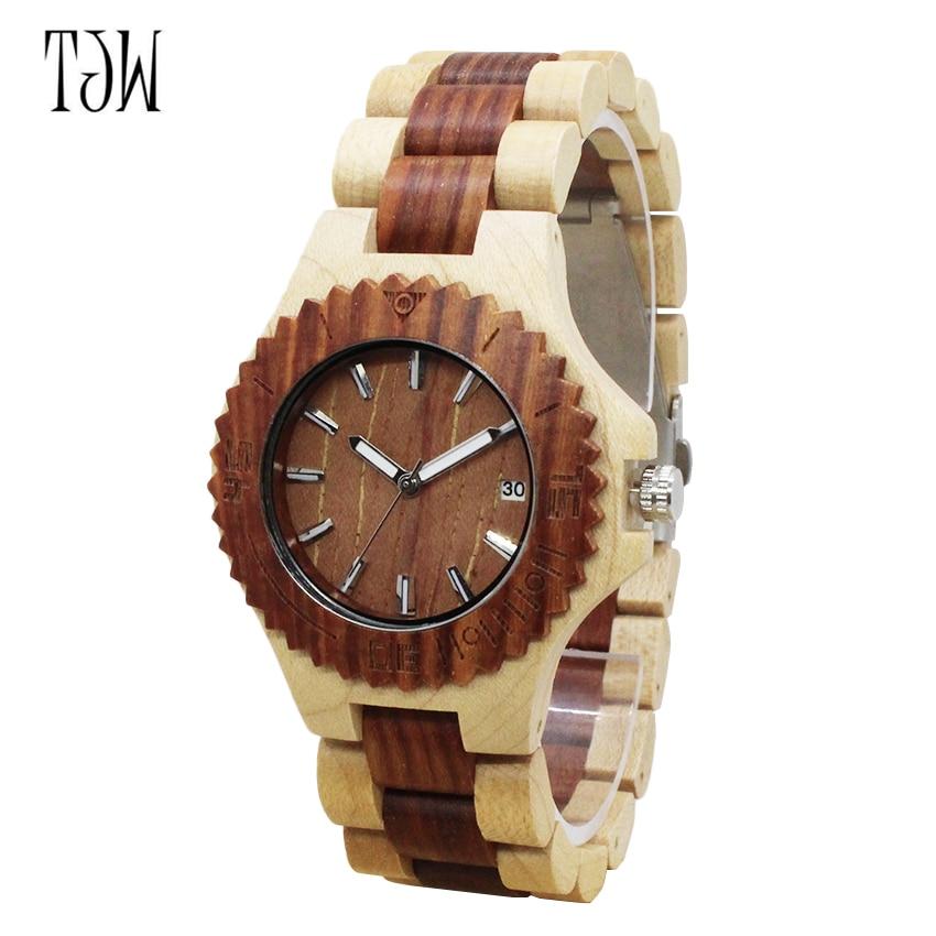 TJW гарячої продажу дерев'яні годинник - Жіночі годинники