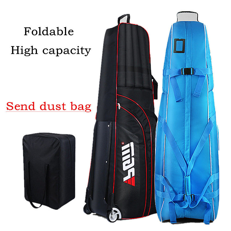 Golf ball bag Golf aviation package bag Send dust bag Thick waterproof nylon material+Thickened cotton+Chassis Easy to fold pgm vs golf standard ball package bag87 23 46cm men golf plaid club bag women ball environmental pu cart bag can hold 13 clubs