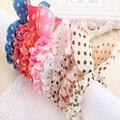 10 unids original cabeza de flor accesorios para el cabello tocado baratijas Corea orejas de conejo Polka Dot Tela anillo de cuerda de pelo de goma