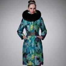 Plus size 5XL 2016 winter Jacket women Down Jackets Women's Goose Down coat slim thickening large fur Hood Outerwear Parka Long