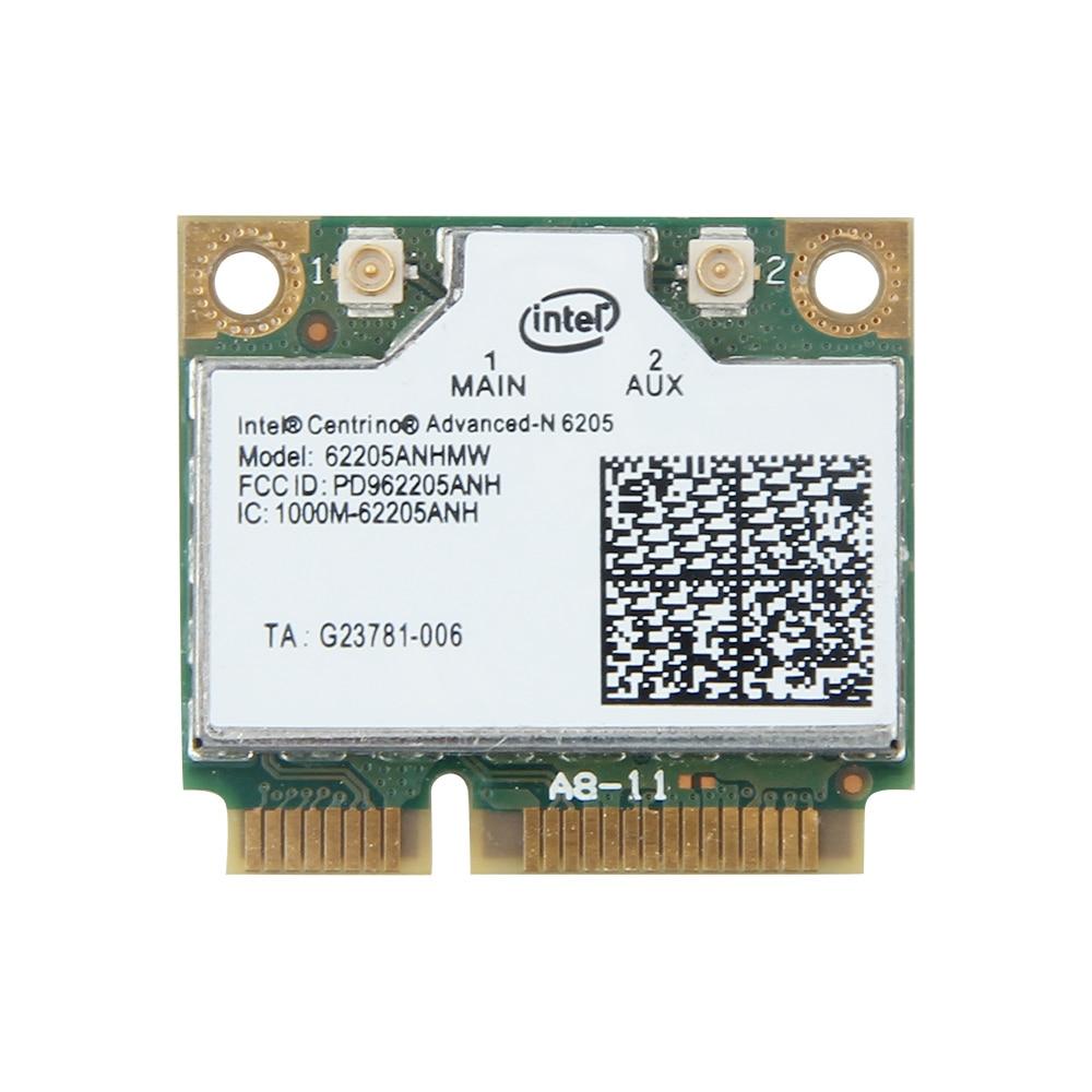 300Mbps Dual Band Wireless Wifi Adapter 802.11a/b/g/n For Intel Advanced-N 6205 62205AN 2.4G 5Ghz Mini PCI-E Wlan Wi-Fi Card