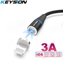 KEYSION Magnetic USB Cable for iPhone 11 Pro XR XS Max 6s 7 8Plus 5s 3A fast Charging Cable Charger wire for Lightning iPad mini цены