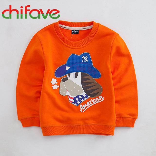 Los niños del otoño clothing niños chicos y chicas suéter perro de dibujos animados de moda de corea niños ropa de algodón precio barato