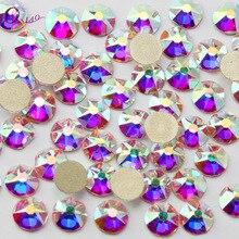 8 большие+ 8 маленькие украшения для ногтей кристалл со стразами/кристалл AB Flatback Стразы не для горячей фиксации украшения хрустальные камни