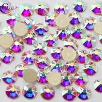 8 grande + 8 facetas de corte pequeno prego strass cristal claro/cristal ab flatback não hotfix strass decoração pedras de cristal
