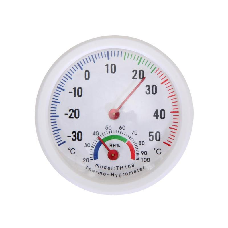 Mini Bell-shaped Scale Thermometer Hygrometer Wall Mount Indoor Temperature Measure for Home Office Indoor Outdoor