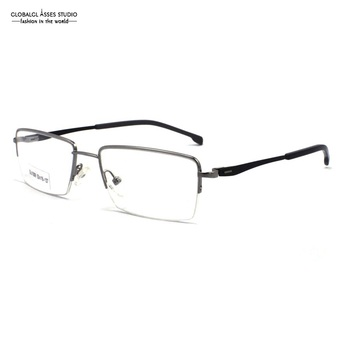 el más nuevo 879e4 c342c Lentes rectangulares Marco de Gafas de Metal delgado para mujer rojo en  negro diseño especial bisagra gafas ópticas SU1008 C5-2