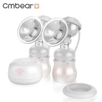 Cmbear Convenient Double Electric Breast Pump With Massage Pad Touch Bottons Portable BPA Free Milk Bottle Baby Breast Feeding