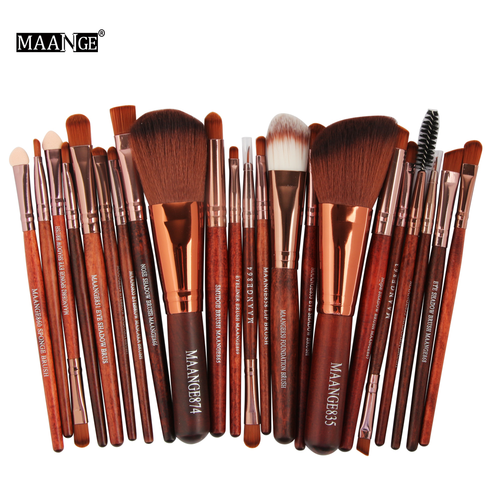 MAANGE Pro 22Pcs Makeup Brushes Set Comestic Powder Foundation Blush Eye Shadow Eyeliner Lip Beauty Make Up Brush Tool Maquiagem maange 22 pcs pro makeup brush kit powder foundation eyeshadow eyeliner lip make up brushes set beauty tools maquiagem