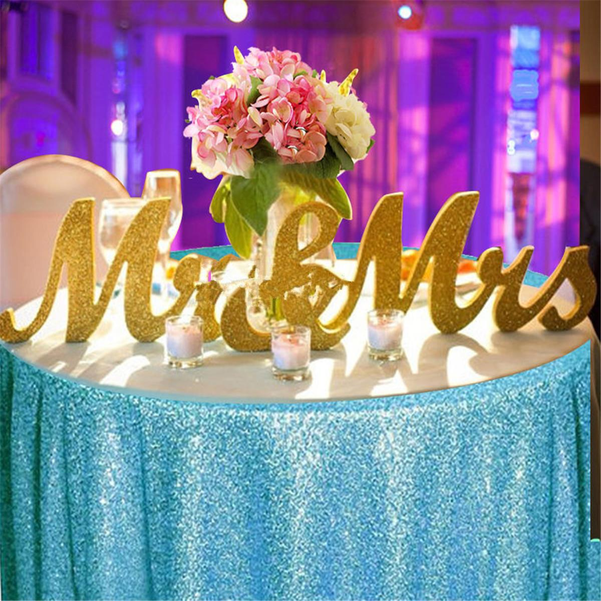 Gold wooden mr mrs table centrepiece for Design your wedding reception