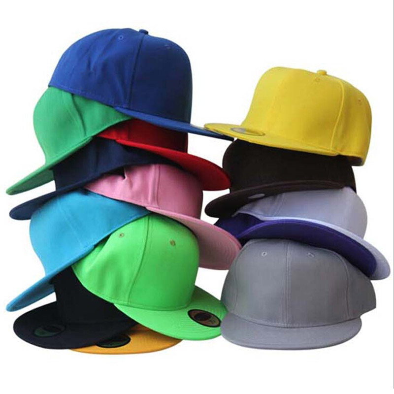Full close   cap   fitted closure hat children small size 55cm big size 62cm sport flat bill hip hop trucker tennis   baseball   hat