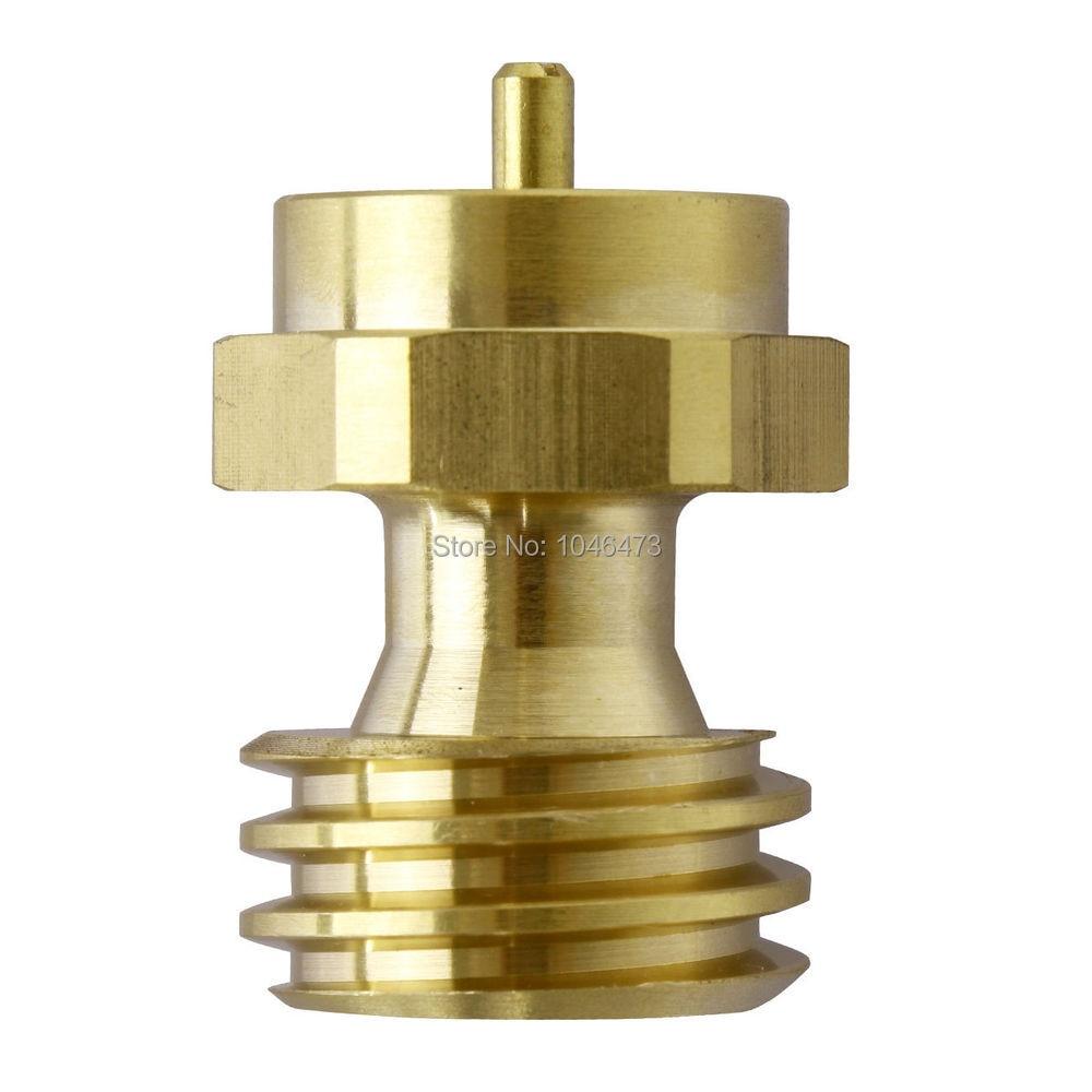 Brass BBQ Grill Saver 1lb Propane Refill Tank Gas Adapter ...