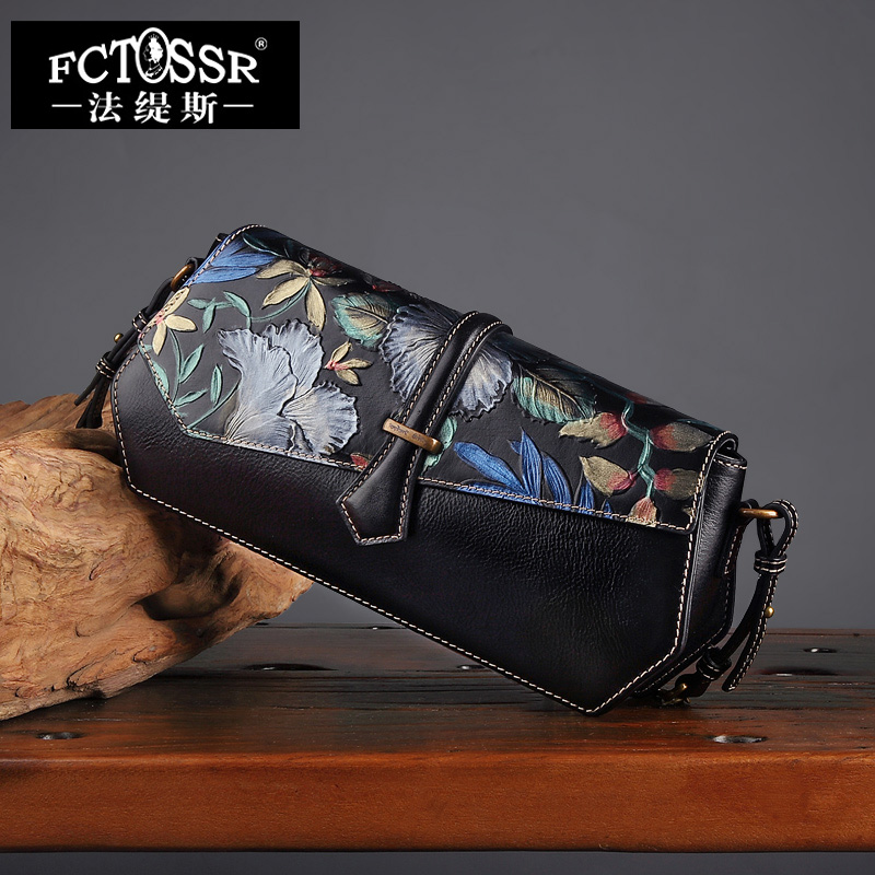 Genuine Leather Women Bag New 2017 Arrival Women Casual Day Clutch Shoulder Bag Hand Painted Messenger Crossbody Bag Women new arrival vintage women handbag genuine leather purse female small bag messenger crossbody bag hand painted women shoulder bag