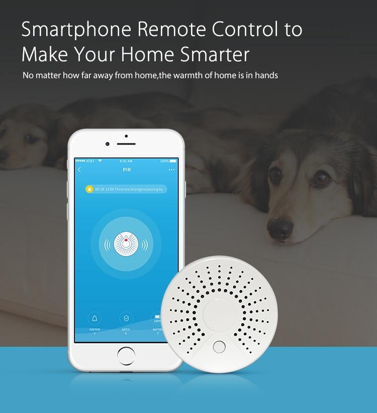 SmartYIBA 2pcs/lot Portable Home Security 2.4G WiFi Wireless Smoke Fire Detector Smoke Alarm Sensor APP Remote Control цена