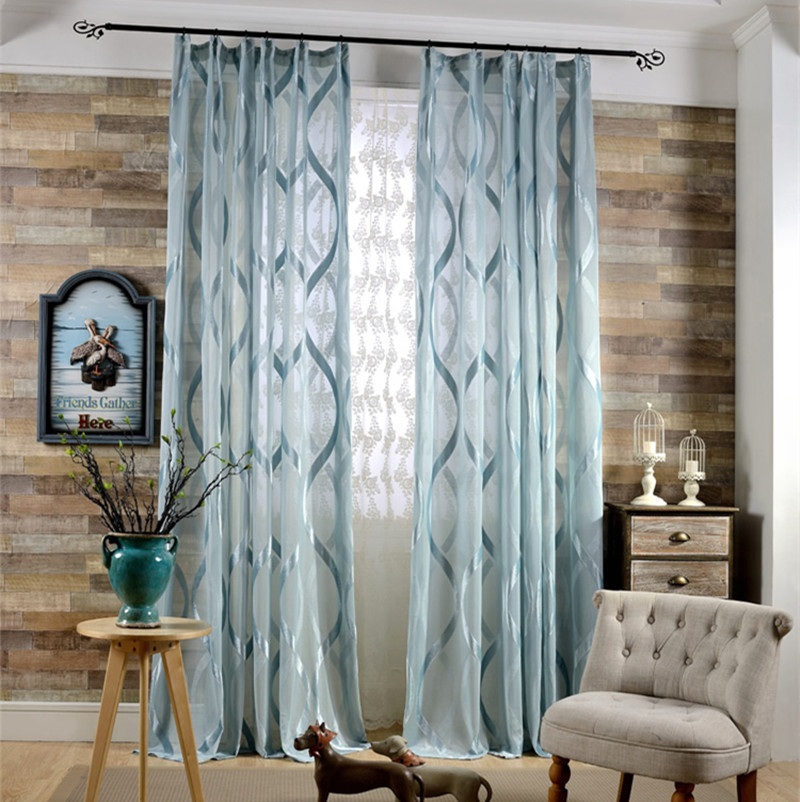Geometric Jacquard Modern Curtains Simple Design Living: Online Buy Wholesale Knitted Curtains Pattern From China