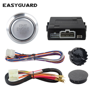 Image 1 - EASYGUARD Silver Start Stop Engine Button Remote Engine Start Optional Keyless Go System with Transponder es002 p3 DC 12V