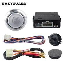 Easyguardシルバースタートストップエンジンボタンリモートエンジンスタートオプションキーレスゴーシステムトランスポンダes002 p3 dc 12v
