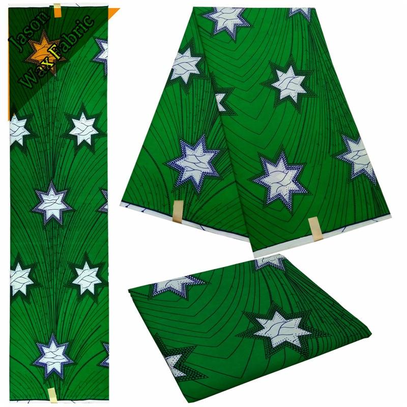 2018 green color Ankara designs high quality 100%cotton ankara fabric/ Veritable real wax prints/latest African fabric LBL