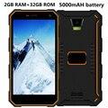 Rungee smartphone 5000 mah original a prueba de choques impermeable ip68 teléfono android 6.0 de Cuatro núcleos de 5.0 pulgadas 2G RAM 32G ROM 13MP GPS