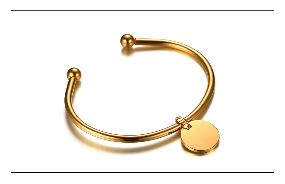 Meaeguet Laser Engrave Charm ID Bangle Personalized Name Bracelet For Women Customized Stainless Steel Bangle Jewelry For Gift (4)