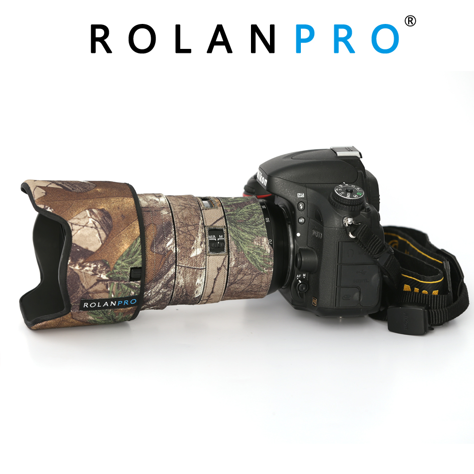 ROLANPRO Lens Camouflage Coat Rain Cover for Nikon AFS 24 70mm F2 8G Lens Protective Sleeve