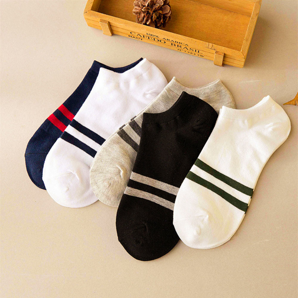 Fahsion Concise Style Stripe Ankle Crew Mens Cotton Socks low cut Casual Color Hot 1 Pair