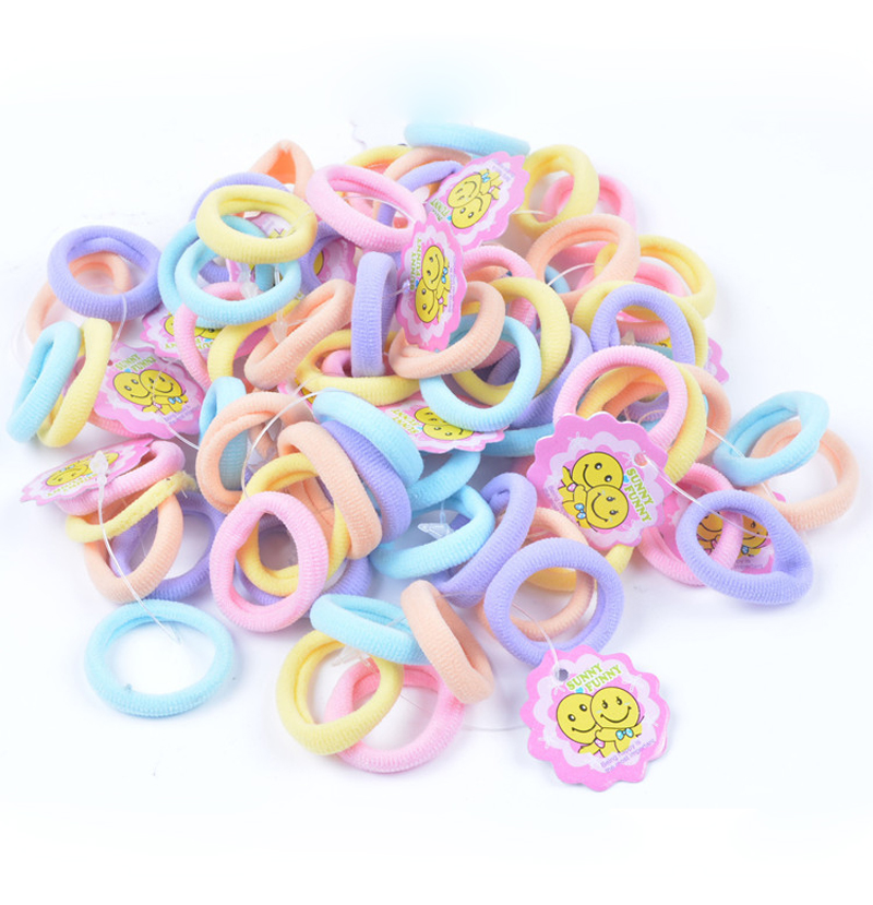 50pcs/Lot Child Baby Kids Ponytail Holders Hairs
