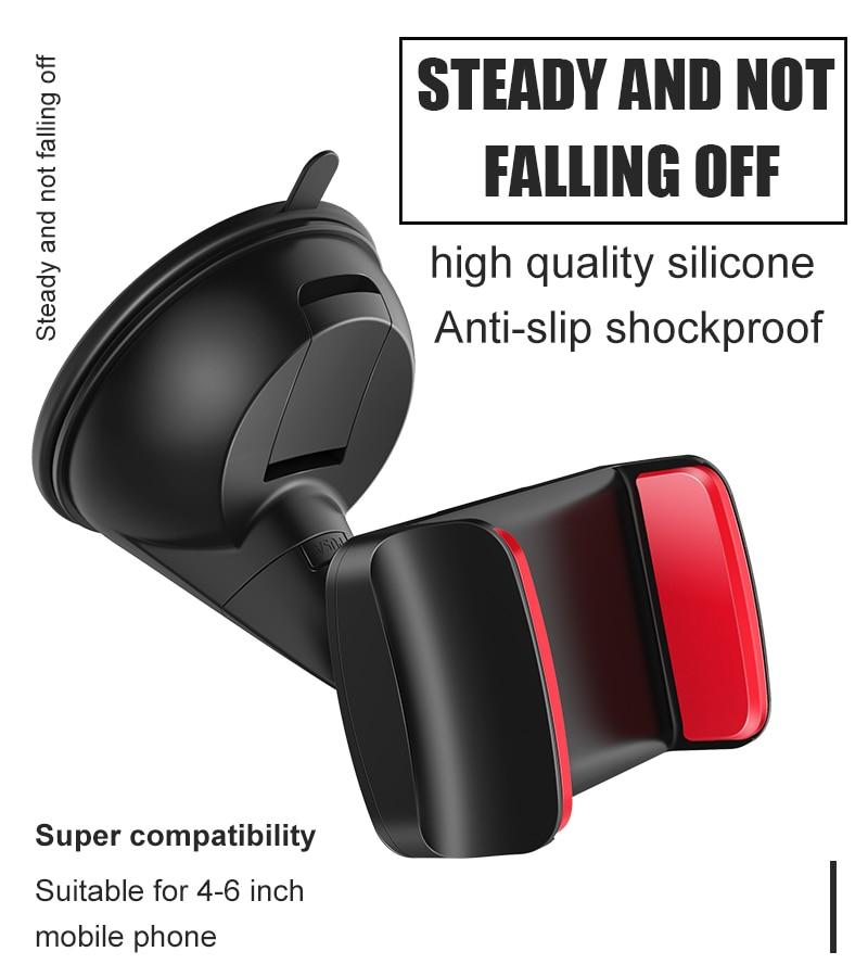 Artisome Car Phone Holder Universal Windshield Sucktion Mobile Phone Holder Stand 360 Degree Rotatable Car Mount Holder (5)