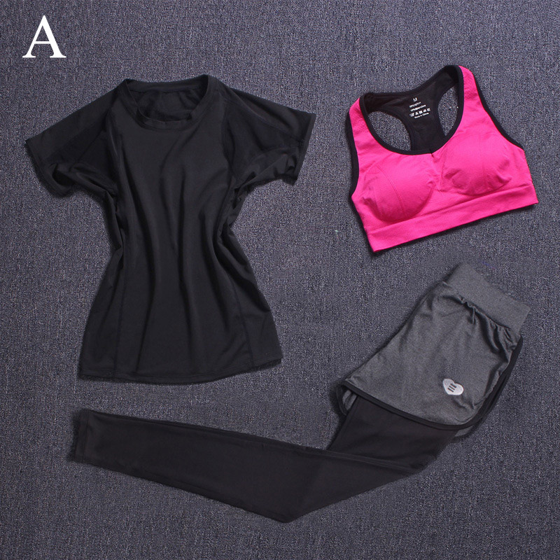 Donne Yoga Set Fitness Sport Pantaloni Leggings Elastico Collant In - Abbigliamento sportivo e accessori