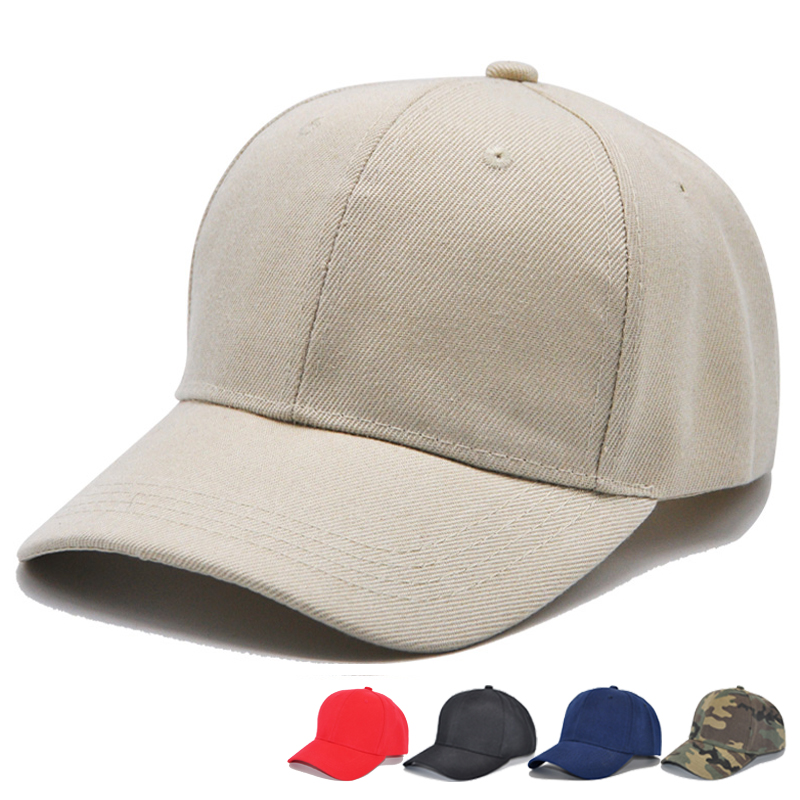 5df6a5889ad Adjustable Baseball Caps Unisex Sport Hats Mens Plain Solid Outdoor ...