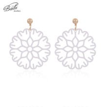 Badu Big Acid Acrylic Earrings Round Drop for Women Flower Dangle Korea Jewelry Wholesale 2018 New Fashion