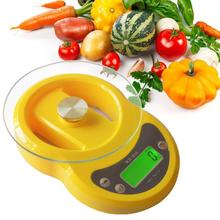 7kg/1g Digital Kitchen Scale LED Backlight CountdownABS Engineering Plastic Tempered Glass Electronic Food Balance