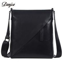 DANJUE Men Bag Trendy Messenger Bags Male Genuine font b Leather b font Shoulder Bag For
