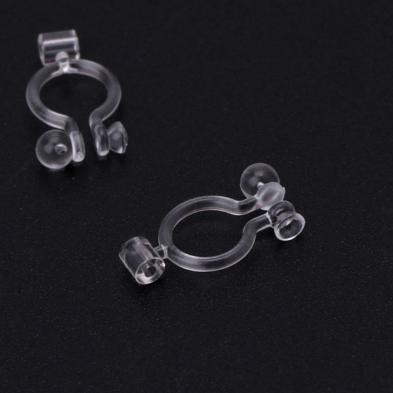 20Pcs Invisible Clip-on Earring Converters For Non Pierced Ears Jewelry Findings