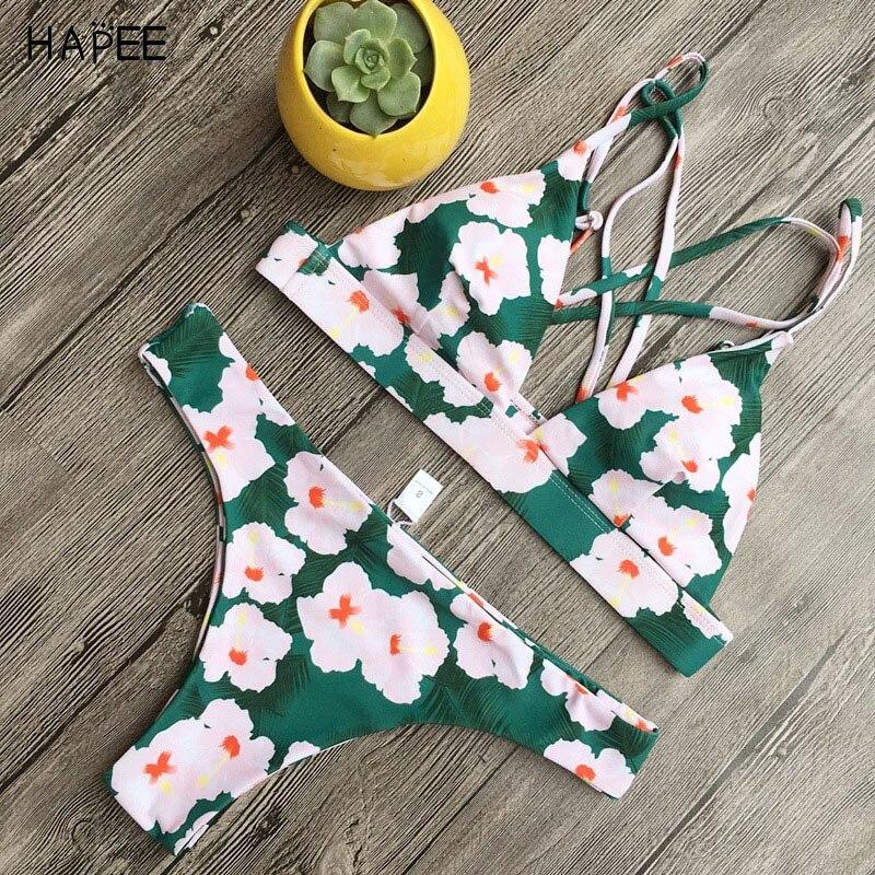 2018 nueva floral micro bikini set push up Bikinis mujeres brasileño traje de baño para las mujeres mini bañadores badpak