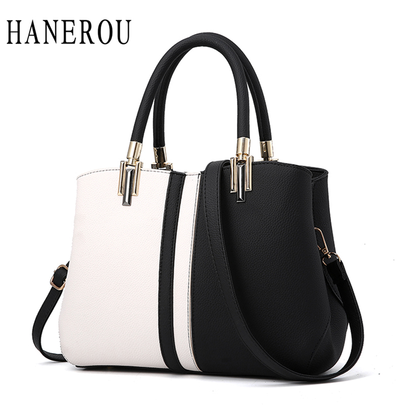 Fashion Panelled Women Handbags New Patchwork Crossbody Bags For Women Tote Bag Big Capacity Ladies Hand Bags 2017 Sac A Main aosbos fashion portable insulated canvas lunch bag thermal food picnic lunch bags for women kids men cooler lunch box bag tote