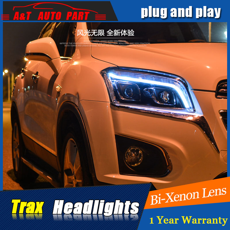 Auto.Pro Car Styling for Chevrolet Trax LED Headlight Tracker Headlights Lens Double Beam H7 HID Xenon bi xenon lens car styling for chevrolet trax led headlights for trax head lamp angel eye led front light bi xenon lens xenon hid kit