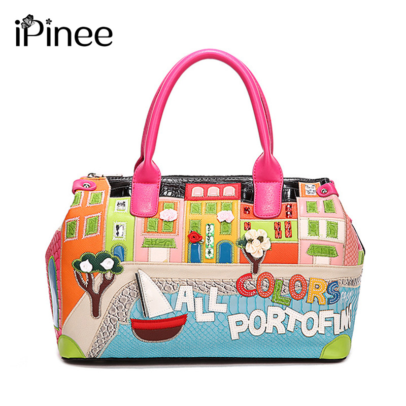 iPinee Hot Sale! 2018 New Fashion Women Handbags Brief Designer Candy Color Shoulder Bags Famous Brand Women Messenger Bags qiaobao 2018 hot brand hot sale new fashion buckets women bags 100
