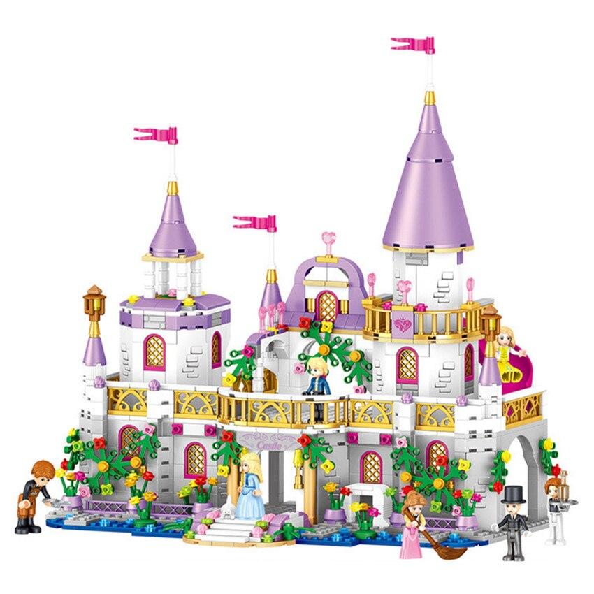 Château de princesse de l'ami de la ville Lepin Technic bloc de construction enfants Legoings Compatible avec les jouets de princesse pour les filles