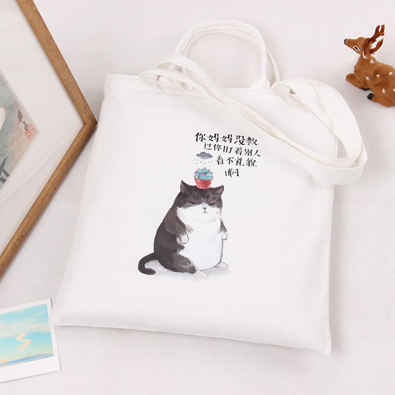 Fashion Cute Canvas Handbag Women Daily Shoulder Handbag Ladies ...
