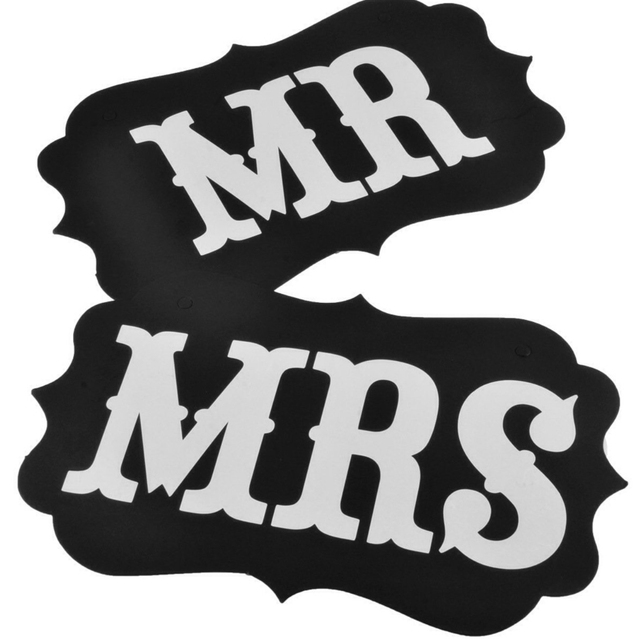 Mr And Mrs Photo Props Mr And Mrs Chair Signs Bride And Groom Signs
