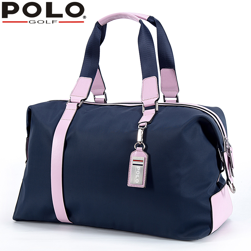 POLO Women Golf Club Clothing Bag Handbag Nylon + First Layer of Leather simulation mini golf course display toy set with golf club ball flag