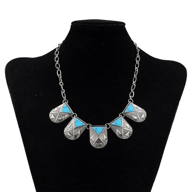 Collares y Colgantes Collar de la Declaración 2017 Maxi Collier Femmes Plastrón Argent Boheme Babero Collares Boho Chic Collar Babero