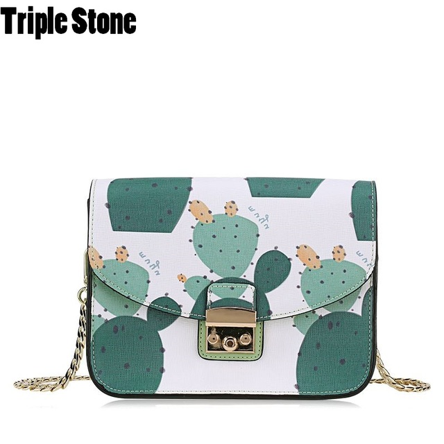 Cactus Printing Small Flap Messenger Bags For Women S Crossbody Cross Body Bag With Cover Fresh